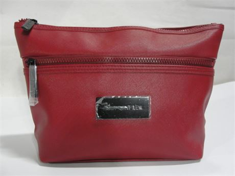 47f727c477cf Police Auctions Canada Holt Renfrew Red Cosmetic Bag 116673l