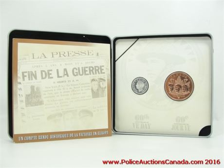Canada 2005 60th Anniversary Ve Day Victory Wwii Rare Commemorative Rcm Set.