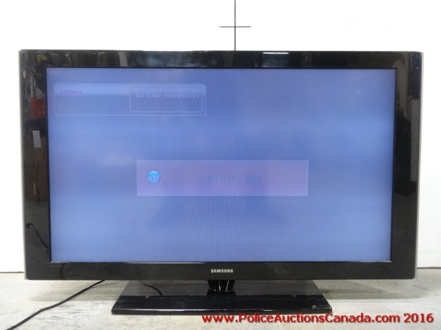 police auctions canada 46 inch samsung lcd tv black 127076b. Black Bedroom Furniture Sets. Home Design Ideas