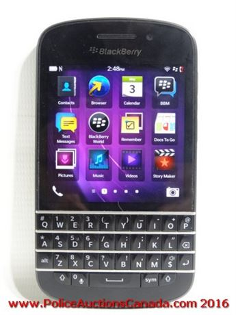 Police Auctions Canada - BlackBerry Q10 (SQN100-3
