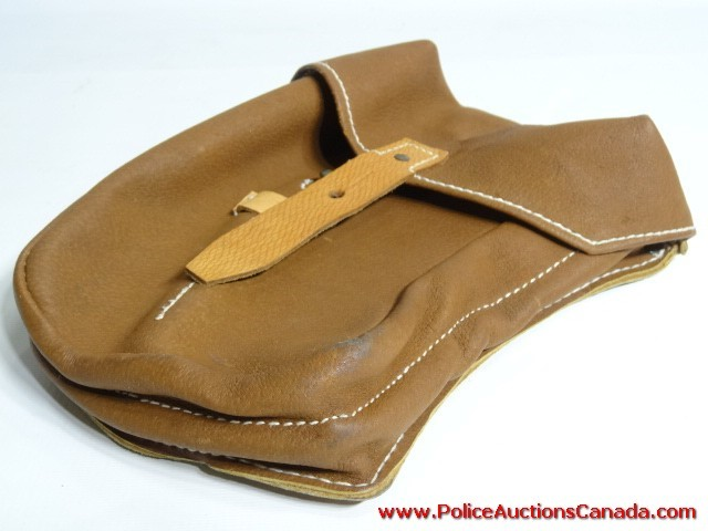 auctions canada brown leather look tool pouch
