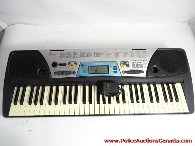 Police auctions canada yamaha psr 170 61 key portable for Yamaha piano keyboard 61 key psr 180