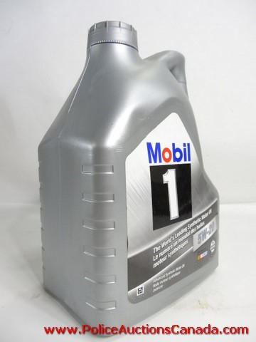 Police Auctions Canada Mobil 1 5w 20 Advanced Synthetic Motor Oil 131349a