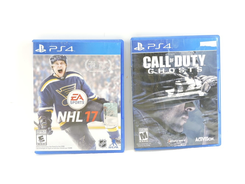 Police Auctions Canada 2 Ps4 Video Games Call Of Duty Ghosts