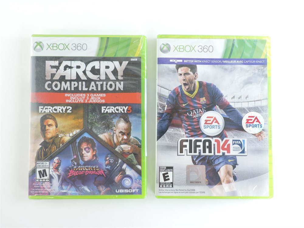 Police Auctions Canada Far Cry Compilation Fifa 14 Xbox 360 Games New 218625b